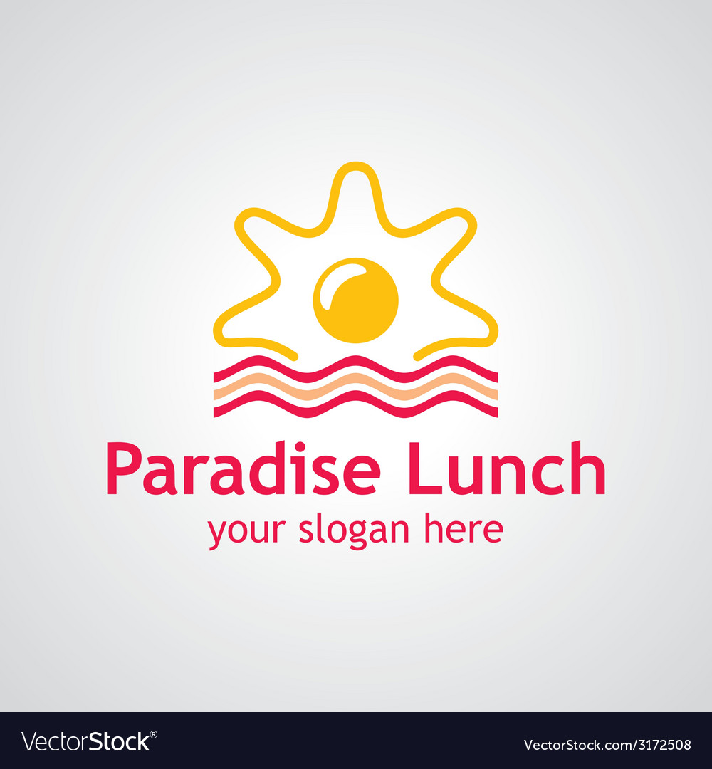 Paradise lunch logo vector | Price: 1 Credit (USD $1)