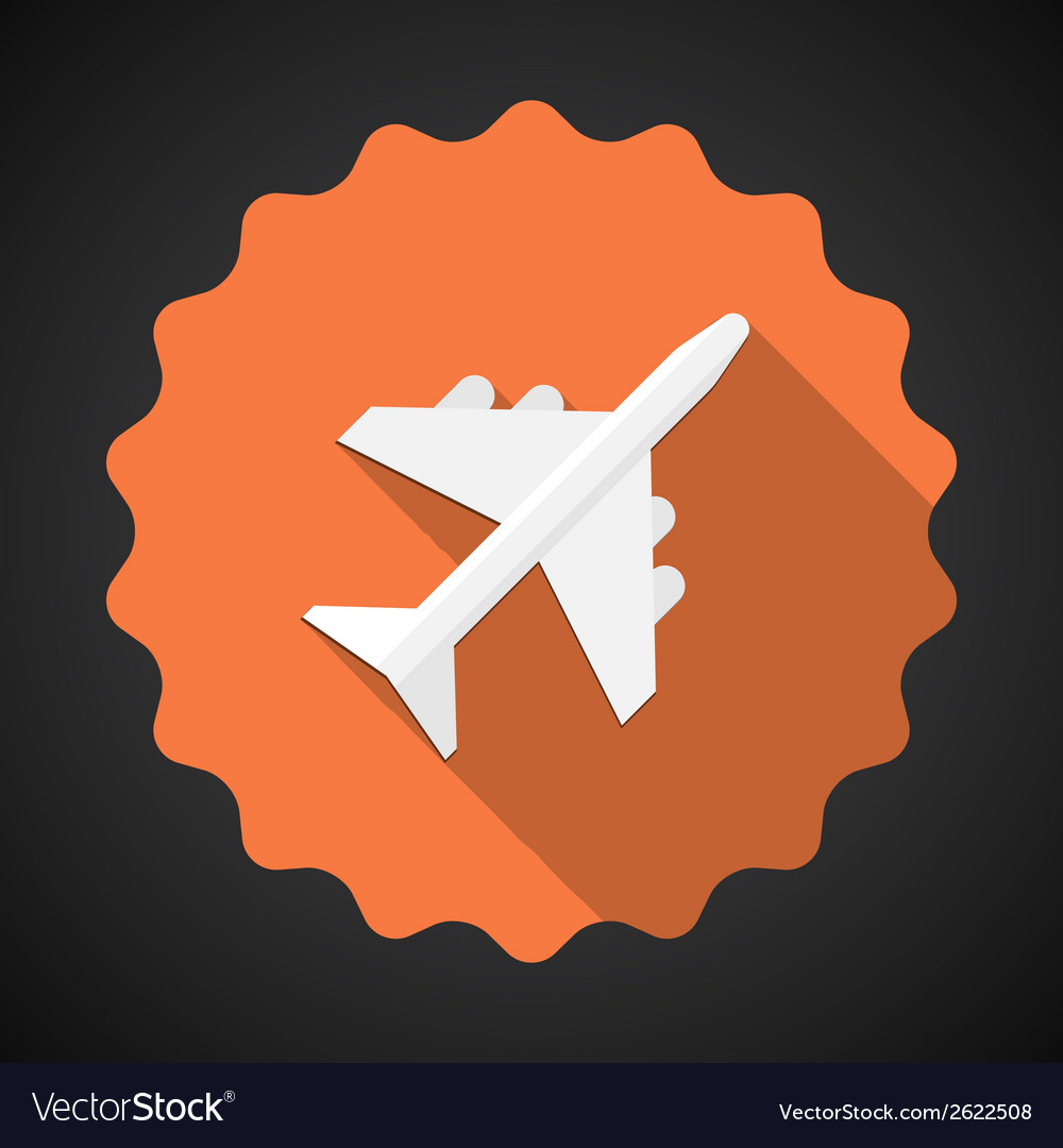 Travel airport airplane flat icon background vector | Price: 1 Credit (USD $1)