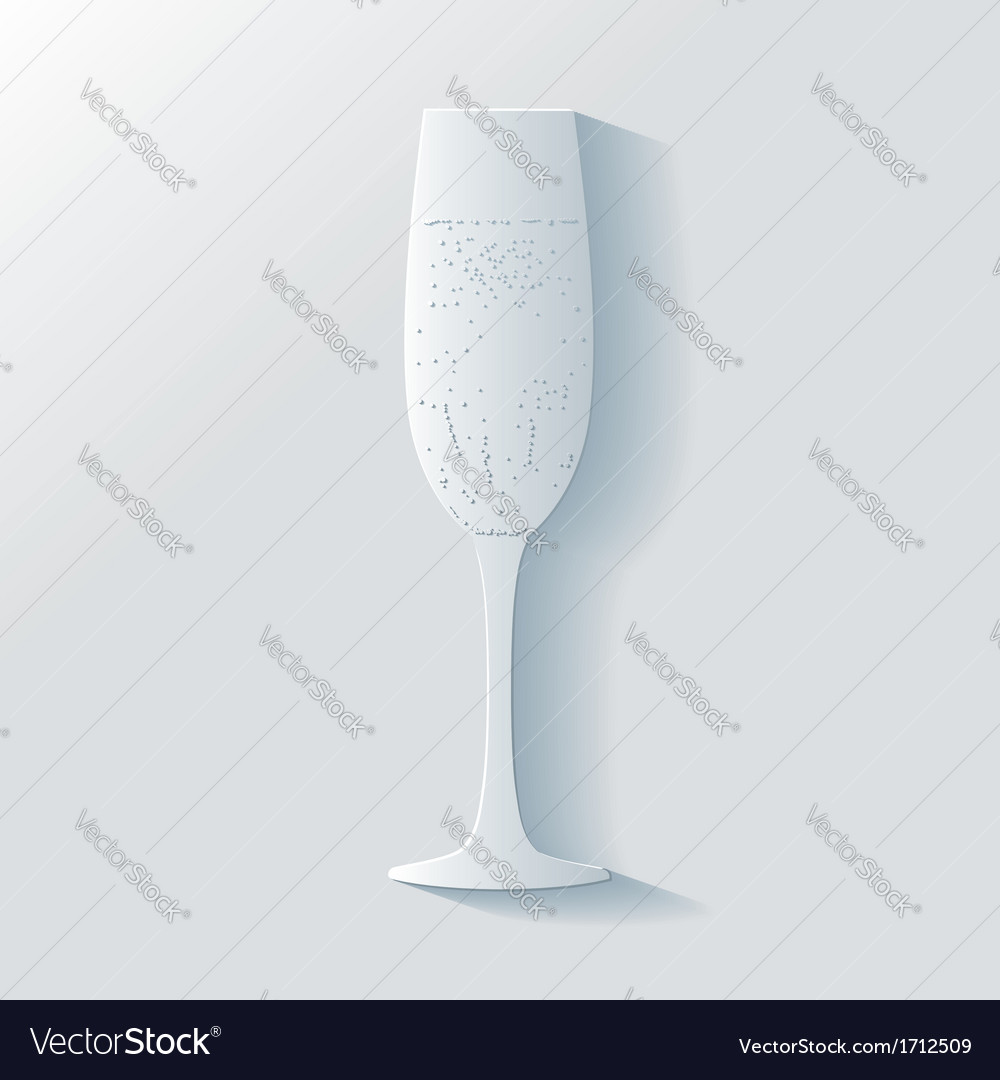 3d glass of champagne with bubbles vector | Price: 1 Credit (USD $1)