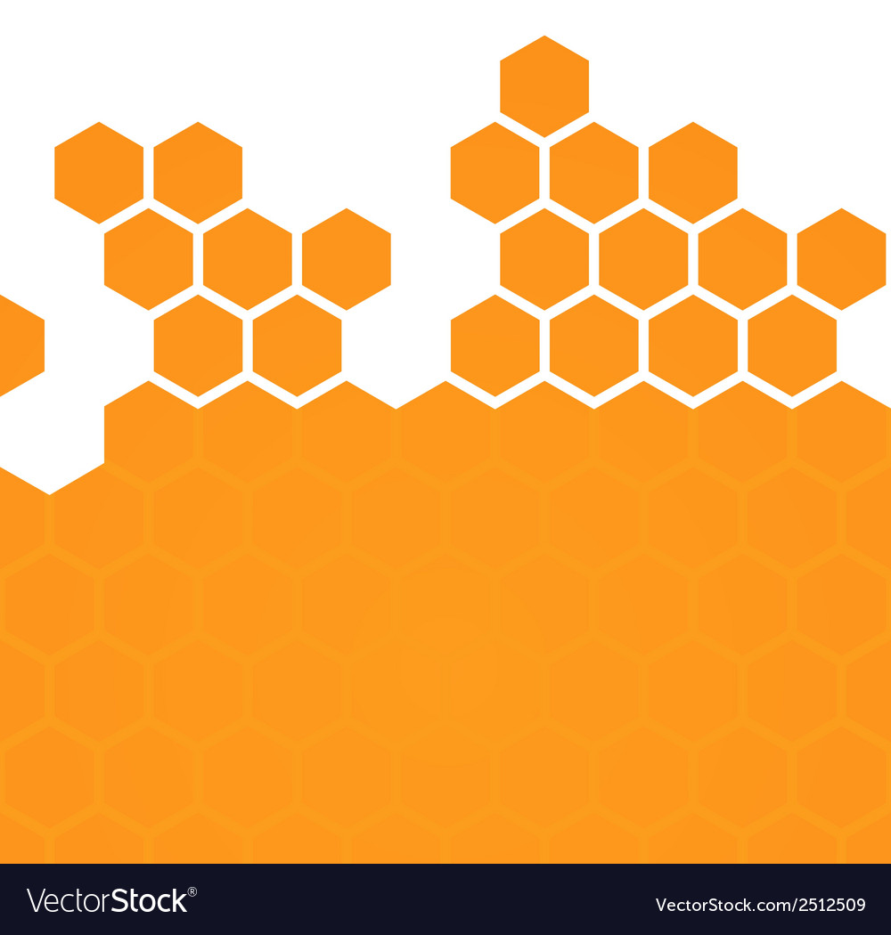 Abstract hexagonal honeycomb background vector | Price: 1 Credit (USD $1)