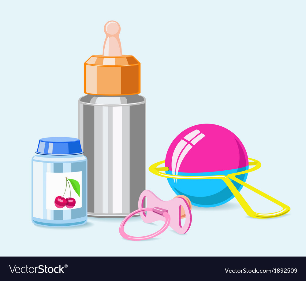 Accessories for breastfeeding vector | Price: 1 Credit (USD $1)