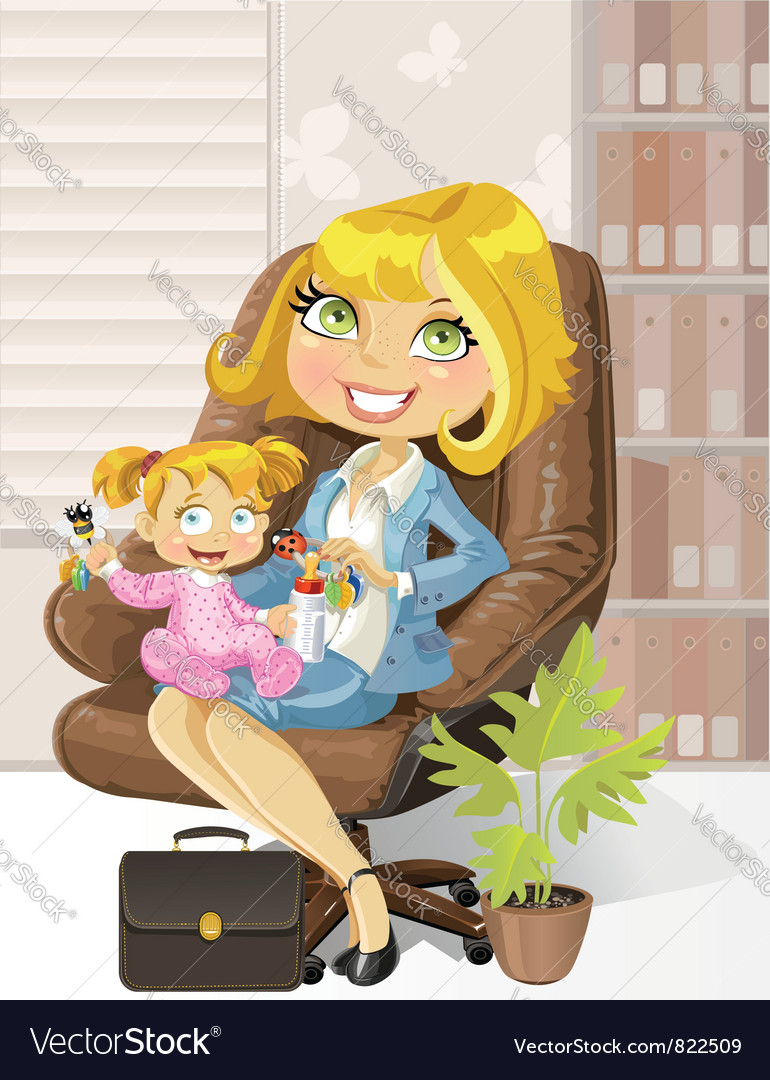 Caring business mother vector | Price: 3 Credit (USD $3)