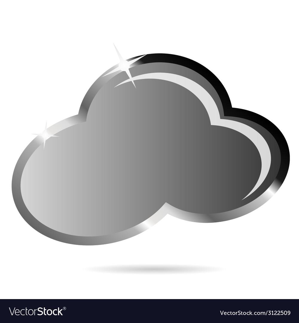 Cloud black icon vector | Price: 1 Credit (USD $1)