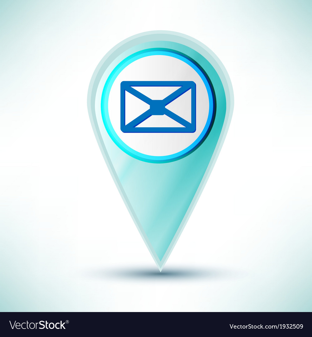 Glossy web icon email design element on a blue vector | Price: 1 Credit (USD $1)