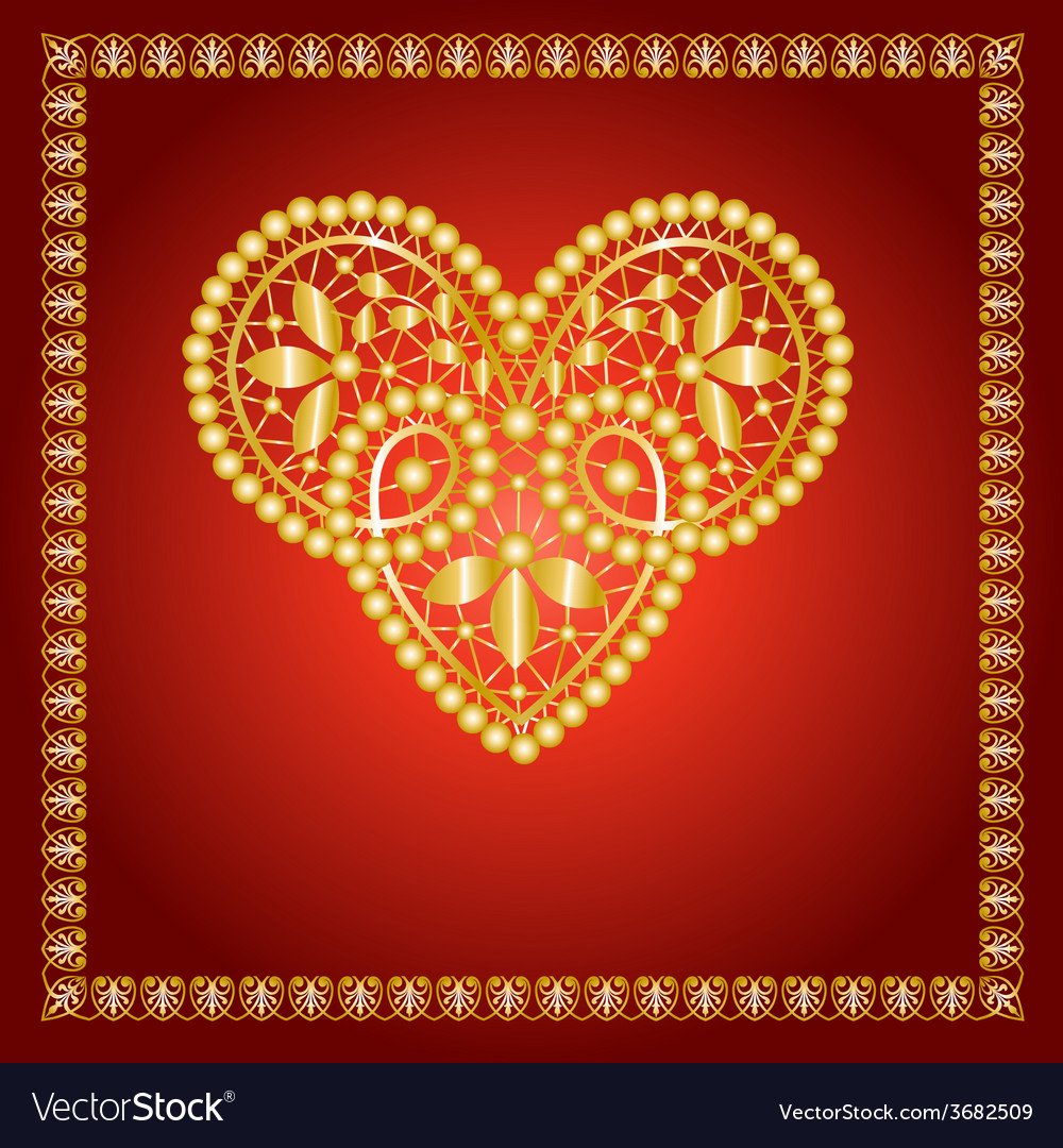 Lace heart vector | Price: 1 Credit (USD $1)