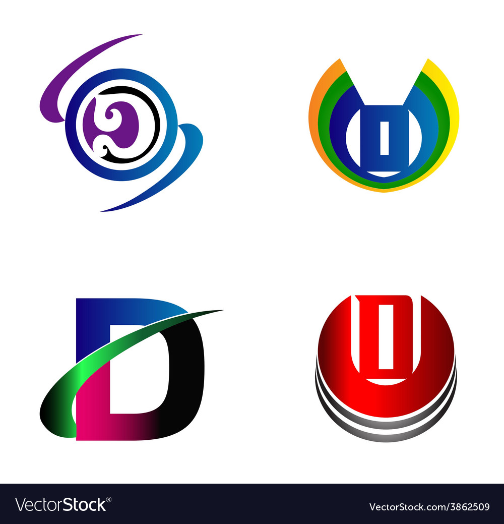 Letter d logo design sample icon set vector | Price: 1 Credit (USD $1)
