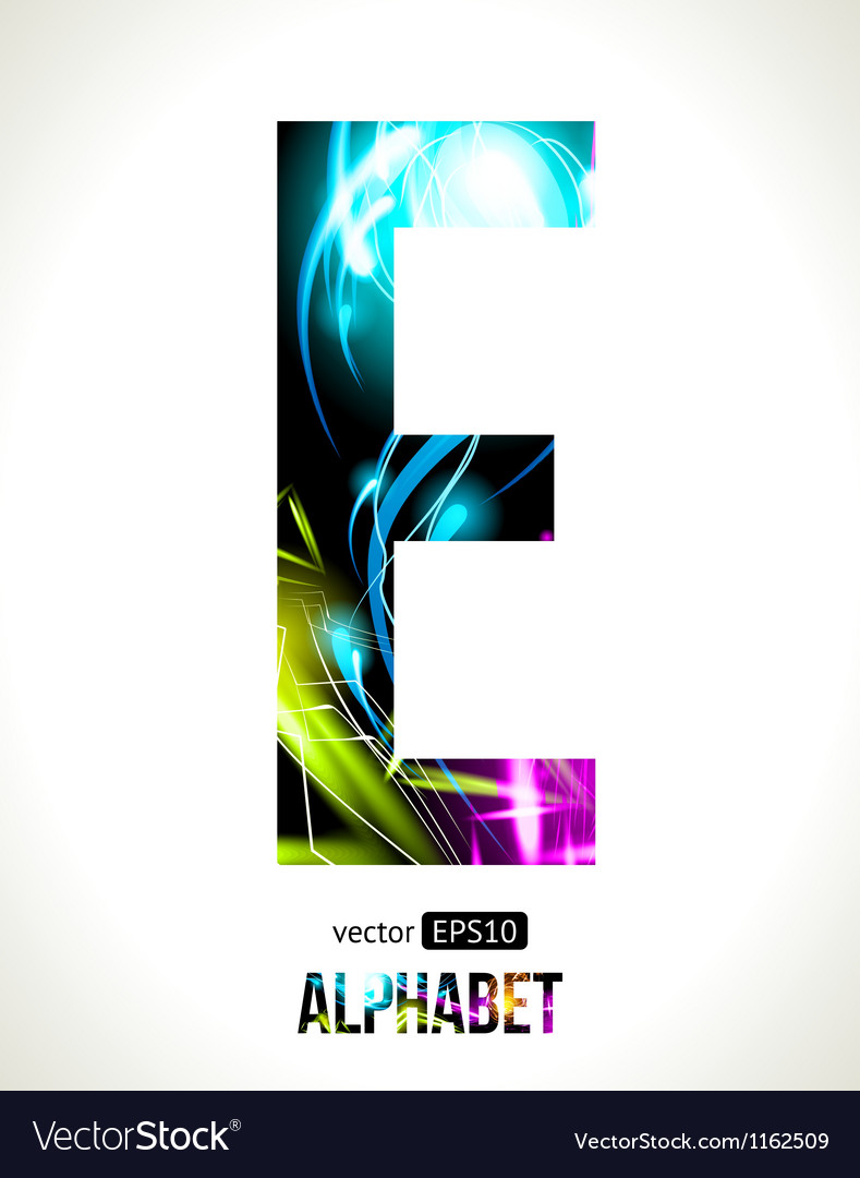 Letter e vector | Price: 1 Credit (USD $1)