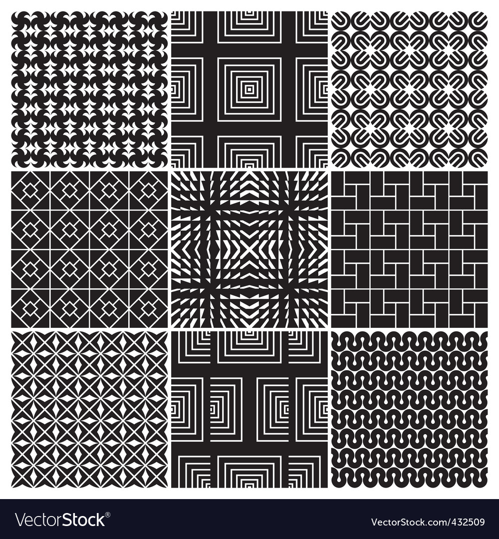 Monochrome patterns vector | Price: 1 Credit (USD $1)