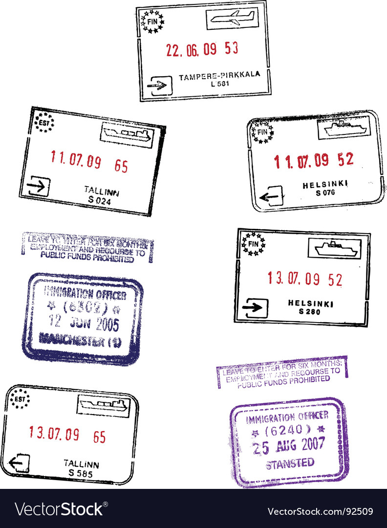 Travel stamps vector | Price: 1 Credit (USD $1)