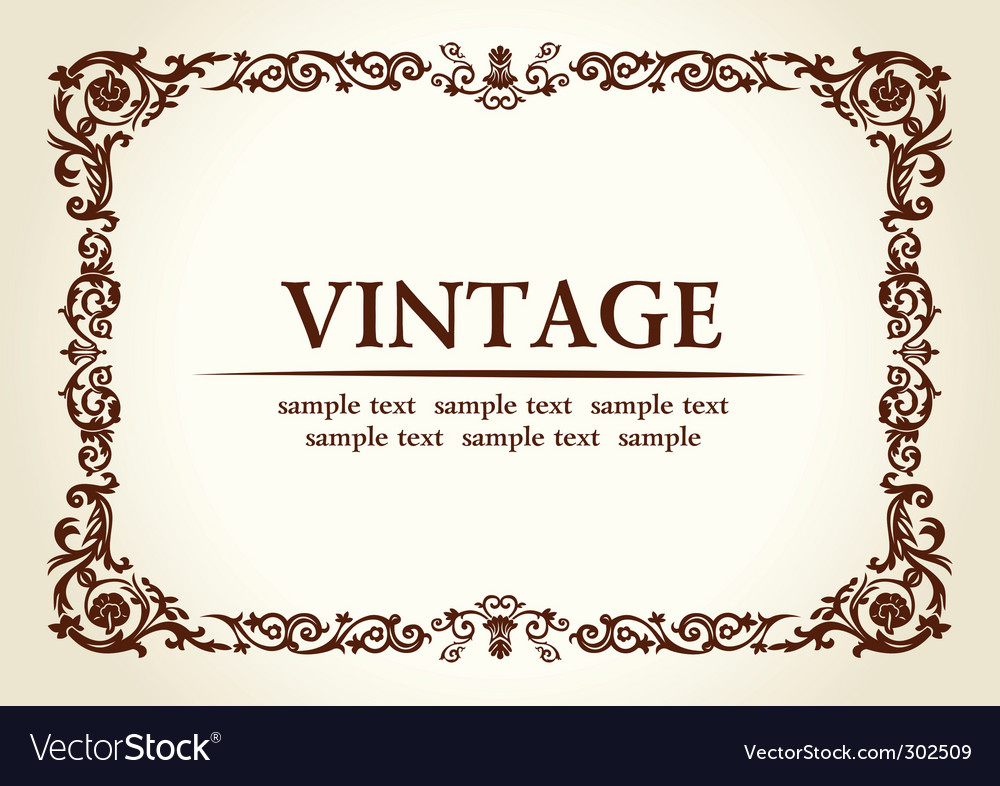 Vintage heraldic imperial frame vector | Price: 1 Credit (USD $1)