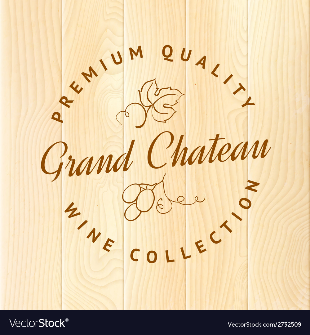 Wooden barrel with vine label vector | Price: 1 Credit (USD $1)