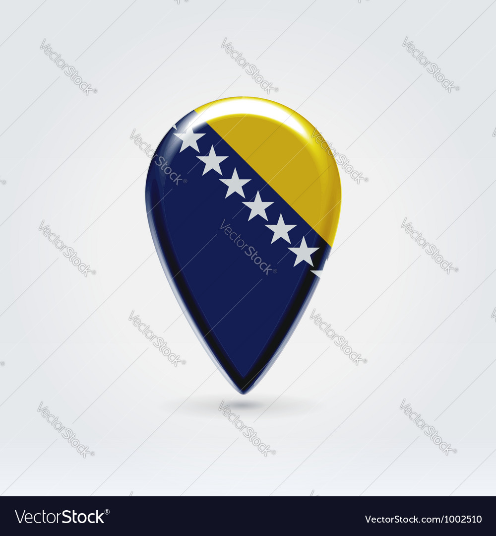Bosniaherzegovina icon point for map vector | Price:  Credit (USD $)