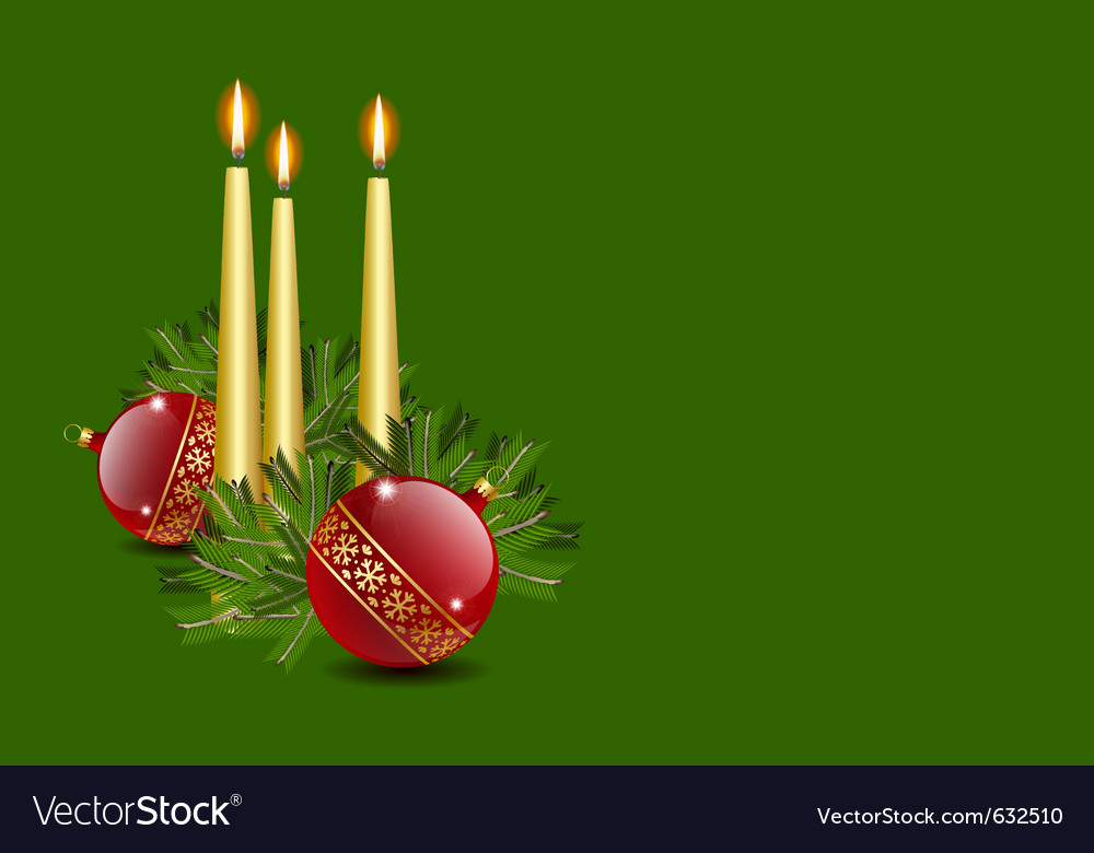 Candles and balls vector | Price: 1 Credit (USD $1)