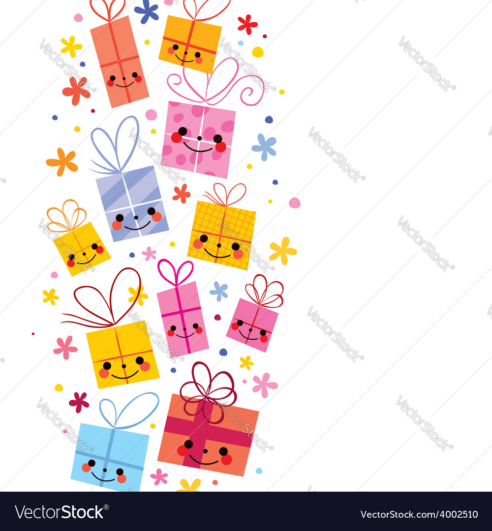 Cute gifts background vector | Price: 1 Credit (USD $1)