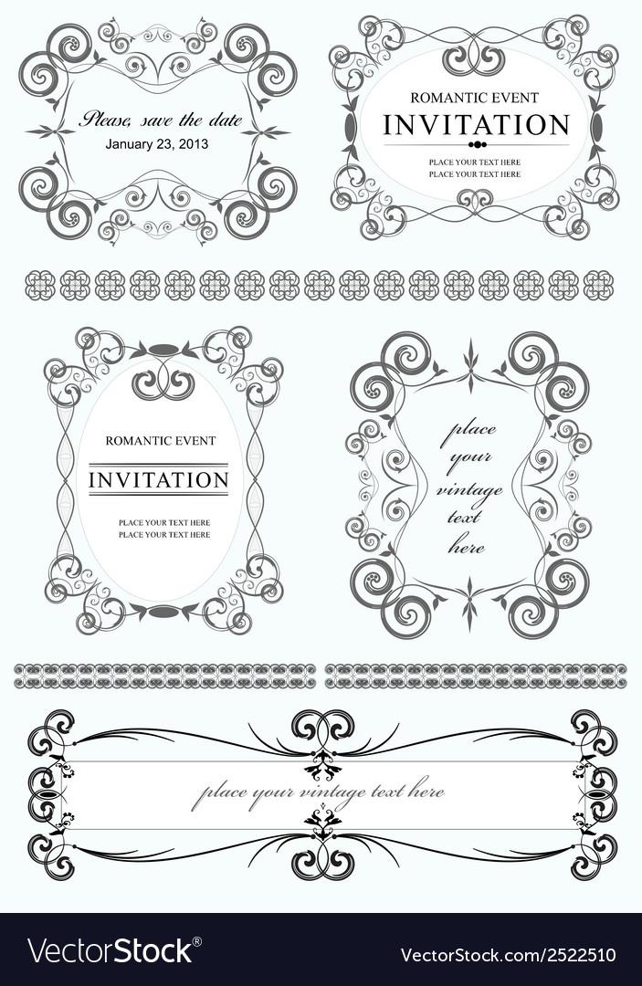 Decorative design elements vector | Price: 1 Credit (USD $1)