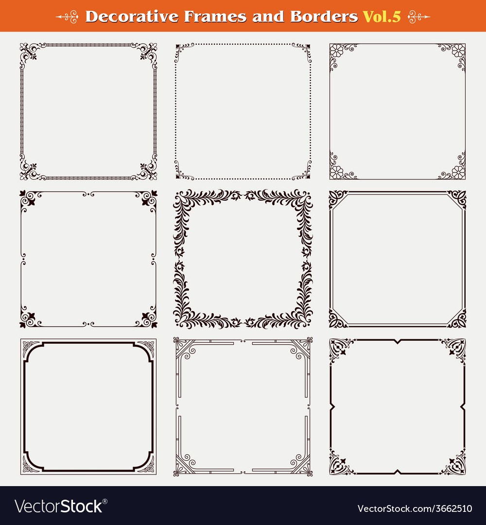 Decorative frames and borders 5 vector | Price: 1 Credit (USD $1)