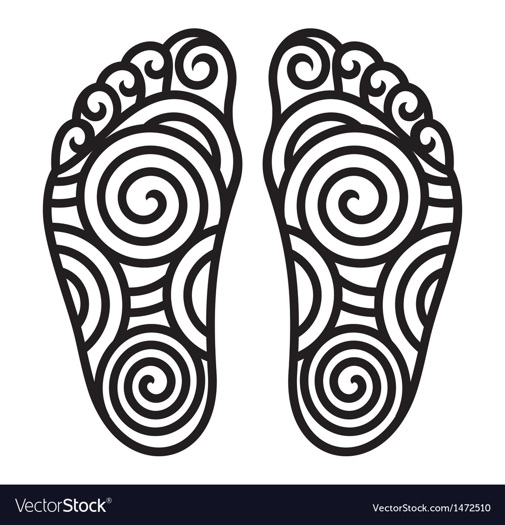 Foot symbol vector | Price: 1 Credit (USD $1)