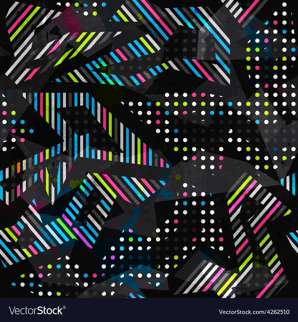 Grunge spectrum color geometric seamless pattern vector | Price: 1 Credit (USD $1)