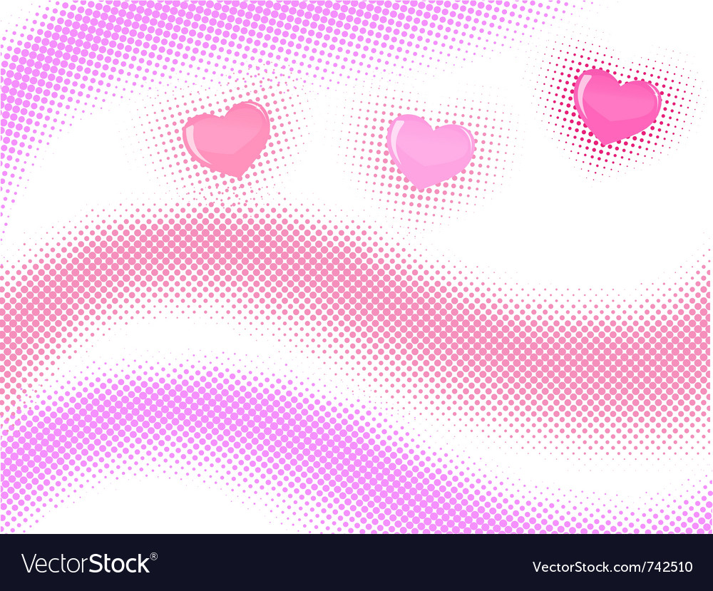 Halftone wave with hearts vector | Price: 1 Credit (USD $1)