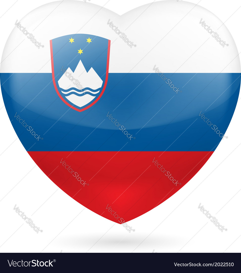 Heart icon of slovenia vector | Price: 1 Credit (USD $1)