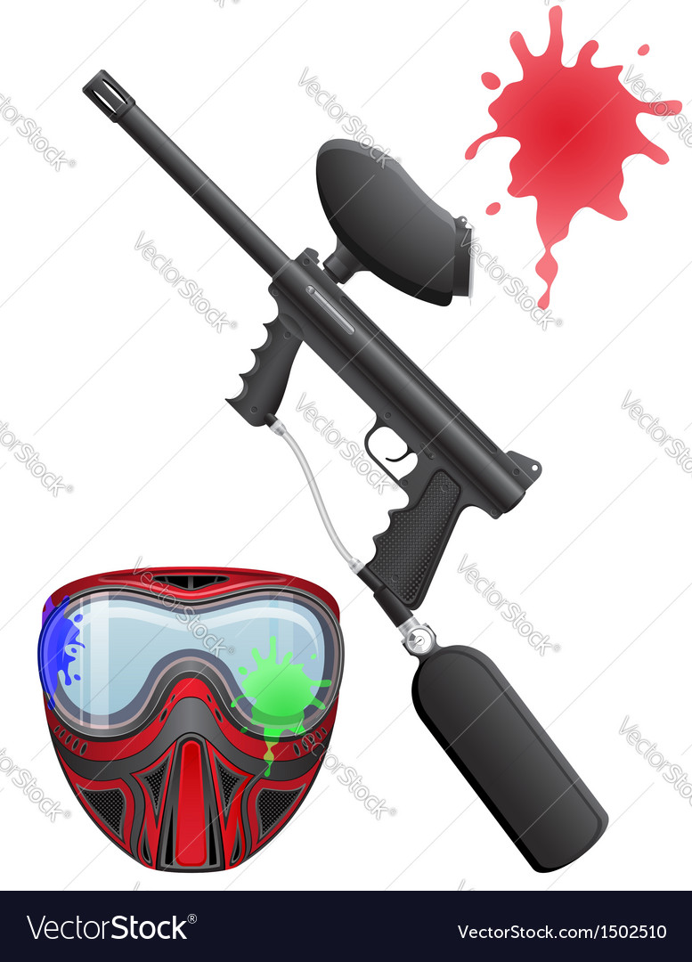 Paintball set vector | Price: 1 Credit (USD $1)