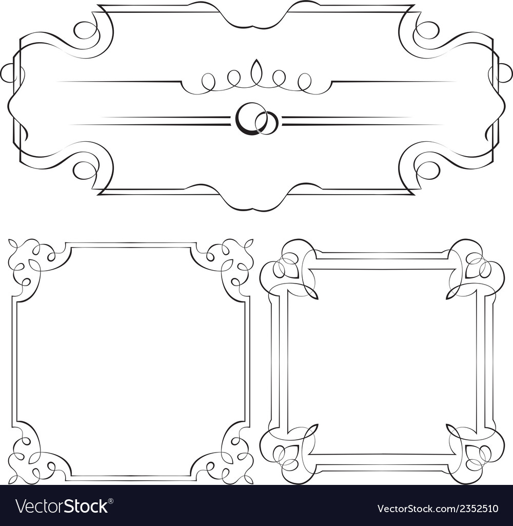 Set frames for design vector | Price: 1 Credit (USD $1)