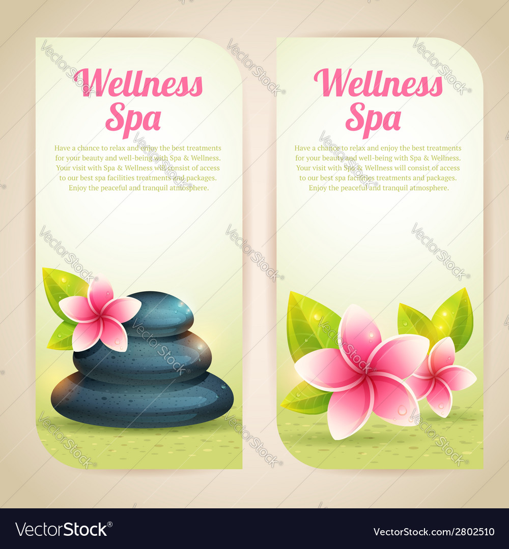 Set of thematical spa cards vector