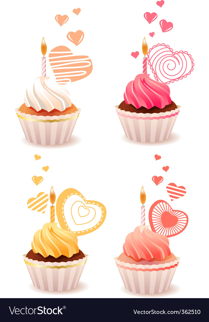 Sweet small cakes vector | Price: 1 Credit (USD $1)