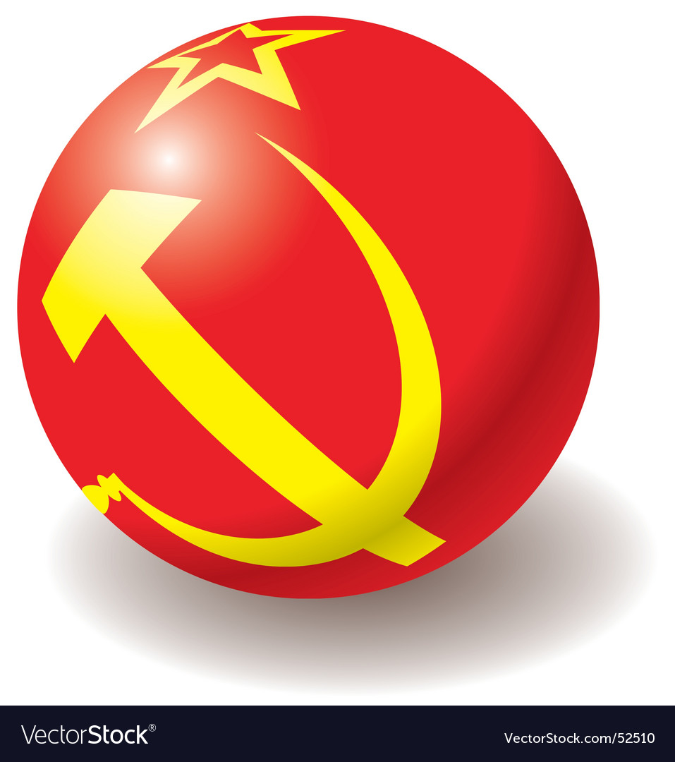 Ussr flag texture on ball vector | Price: 1 Credit (USD $1)