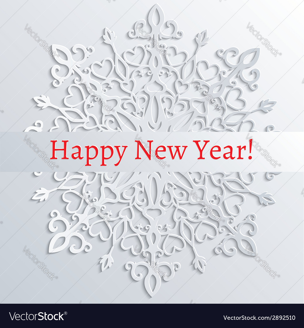 White paper snowflake vector | Price: 1 Credit (USD $1)
