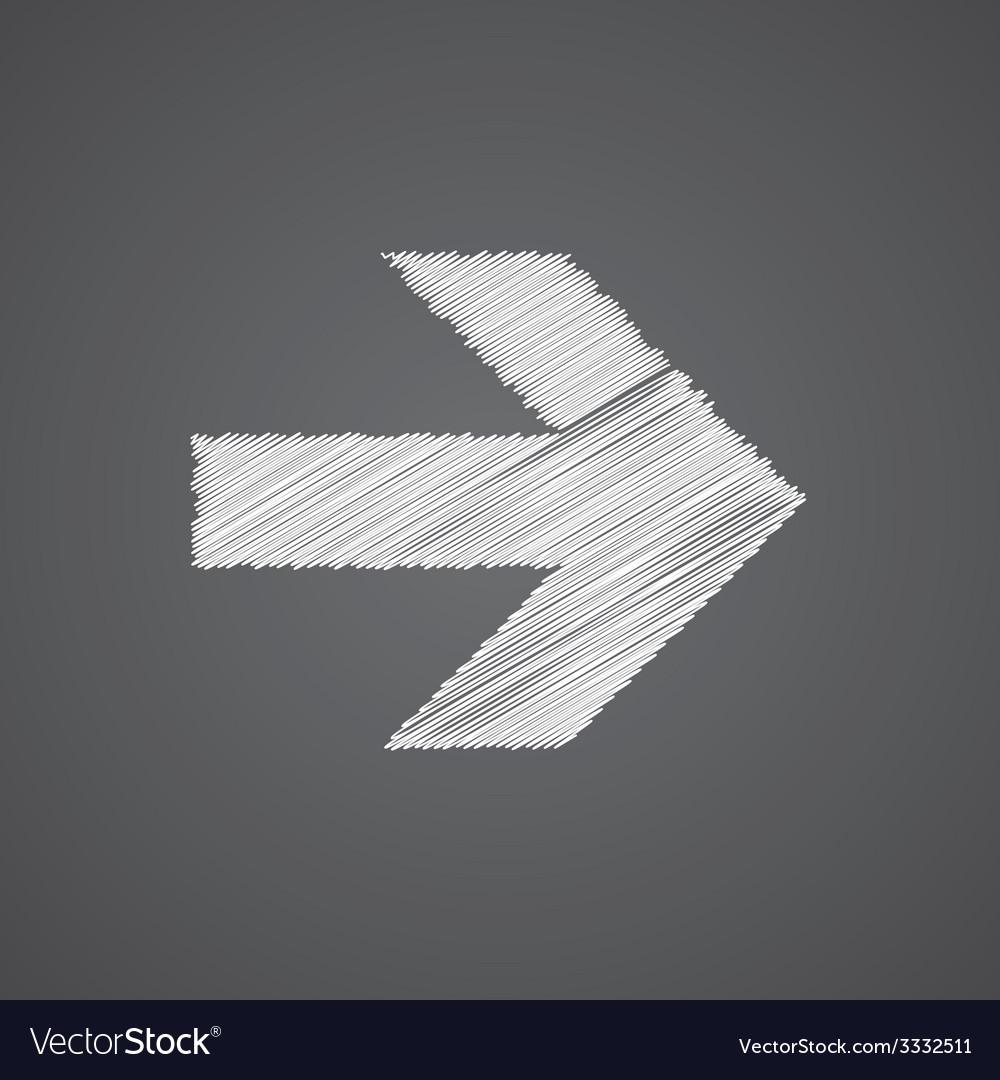 Arrow sketch logo doodle icon vector   Price: 1 Credit (USD $1)