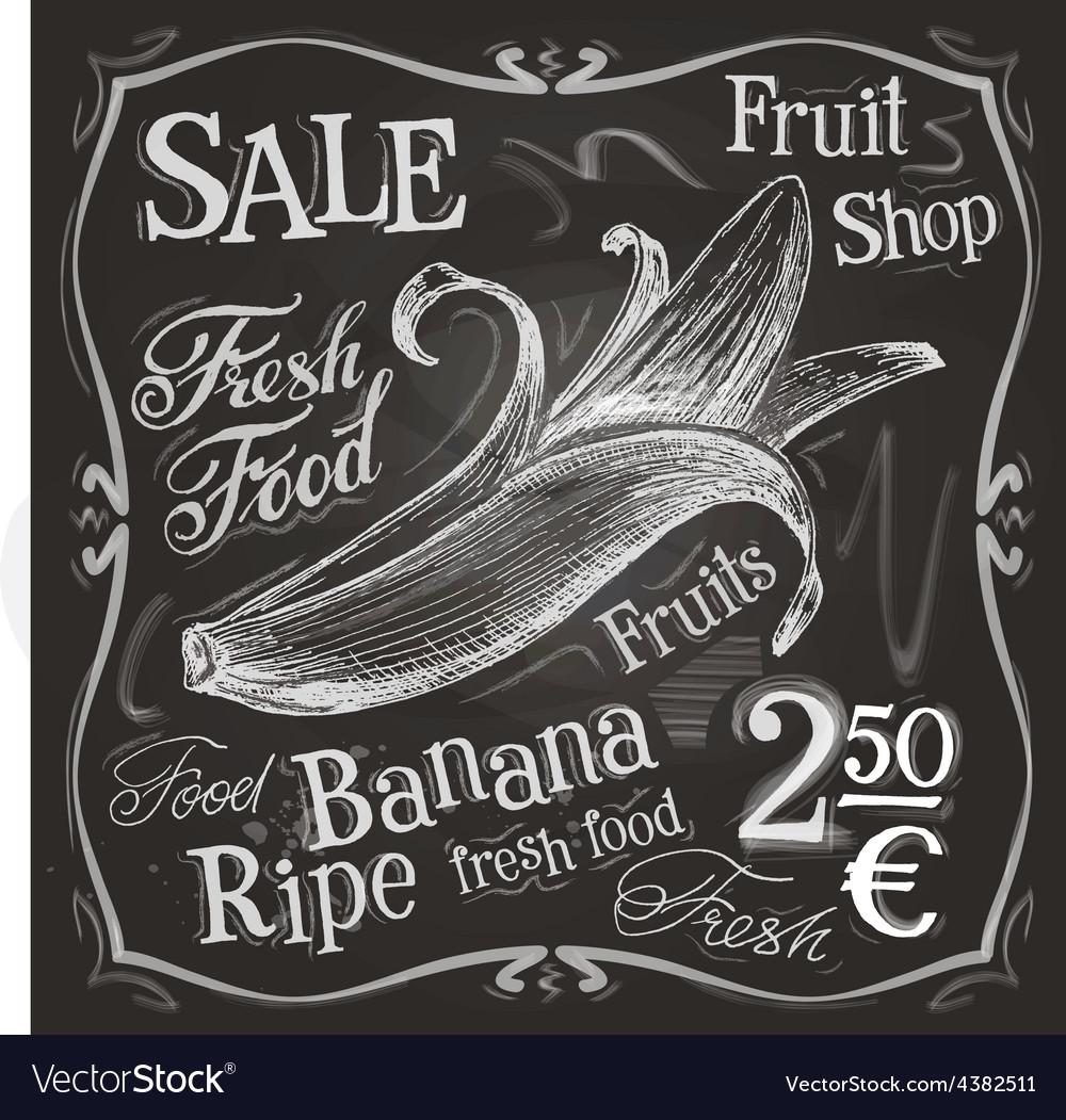 Banana logo design template fresh fruit vector | Price: 3 Credit (USD $3)