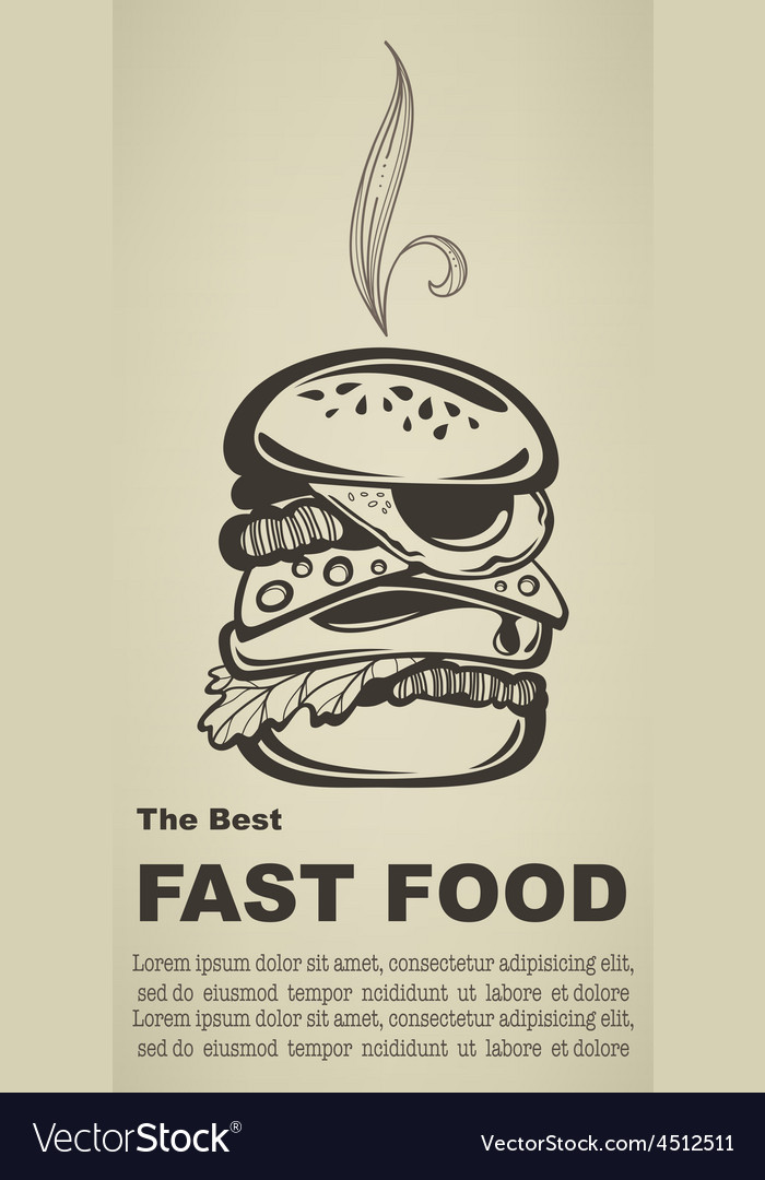 Best fast food vector | Price: 1 Credit (USD $1)