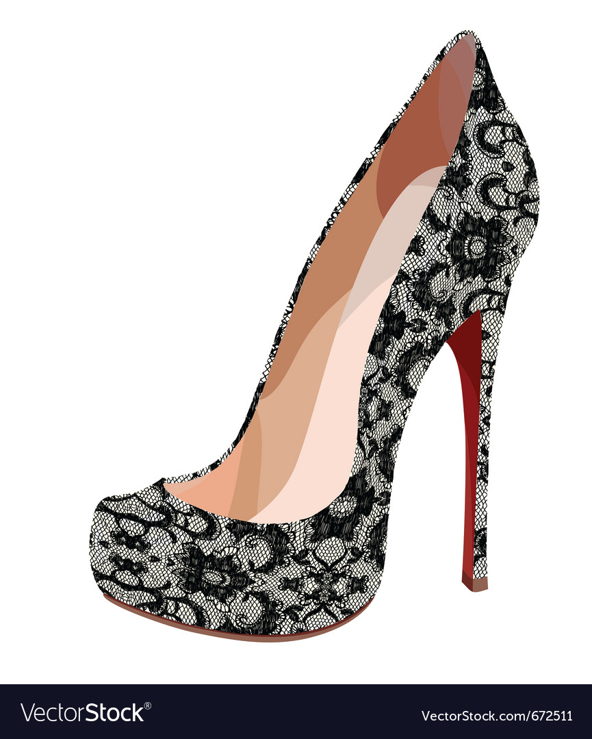 Elegant lace shoe vector | Price: 1 Credit (USD $1)