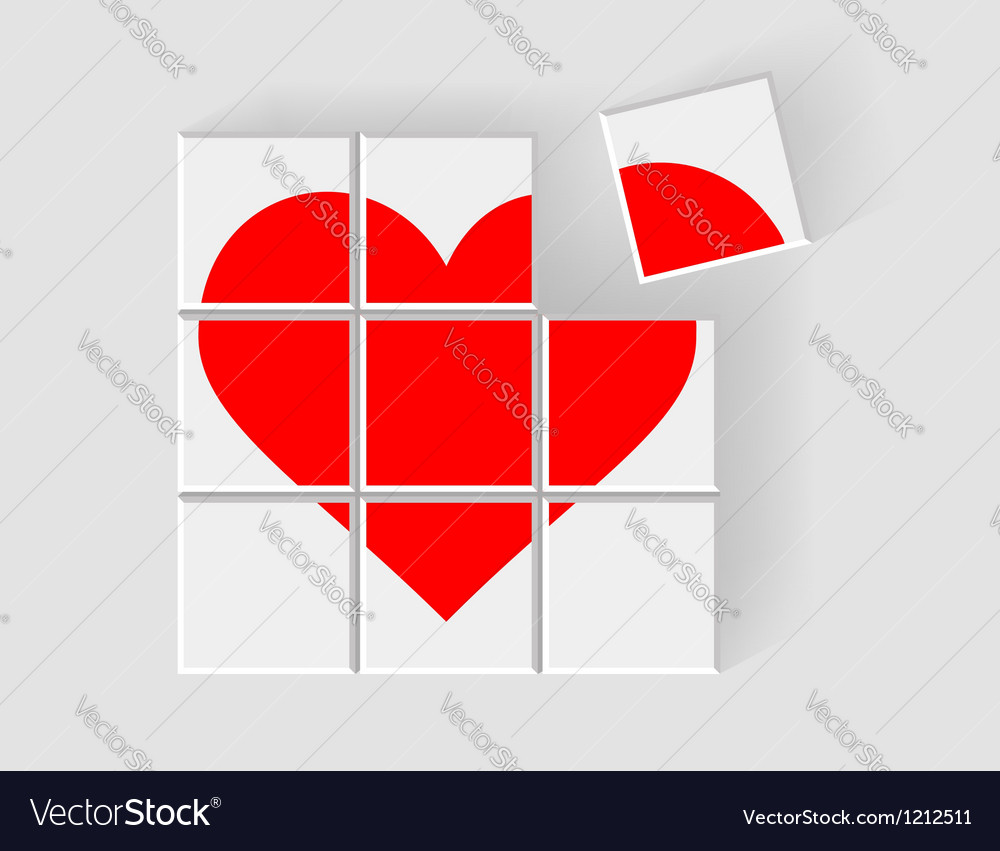 Heart consists of childrens blocks vector | Price: 1 Credit (USD $1)