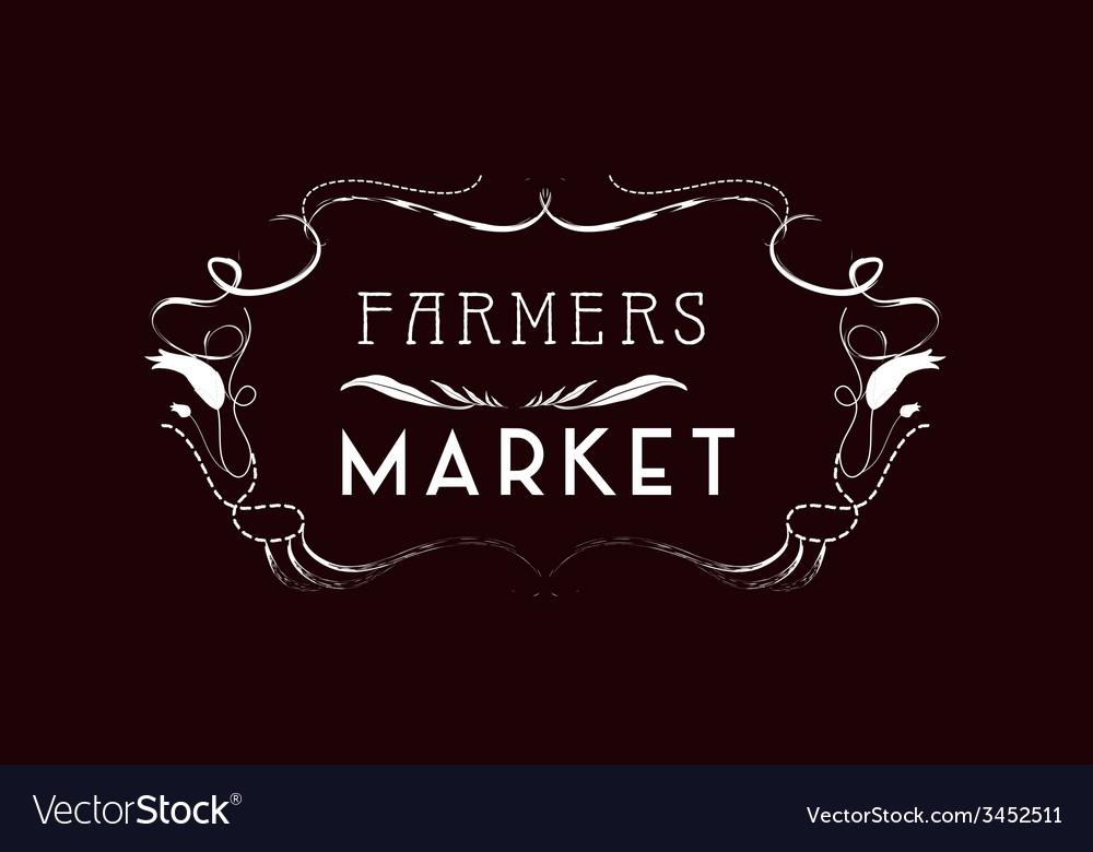 Market vintage frames and floral ornaments vector | Price: 1 Credit (USD $1)