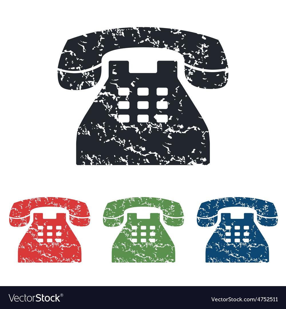 Phone grunge icon set vector | Price: 1 Credit (USD $1)
