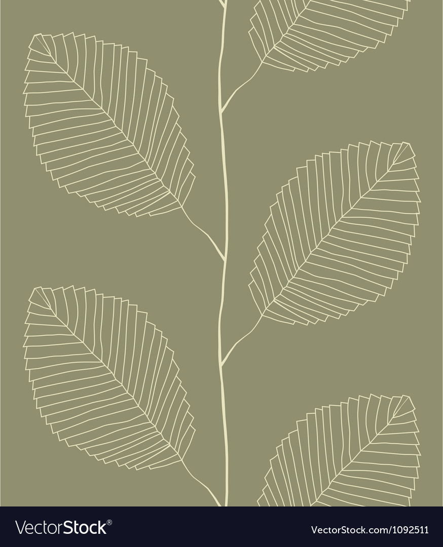 Seamless pattern from leaves vector | Price: 1 Credit (USD $1)