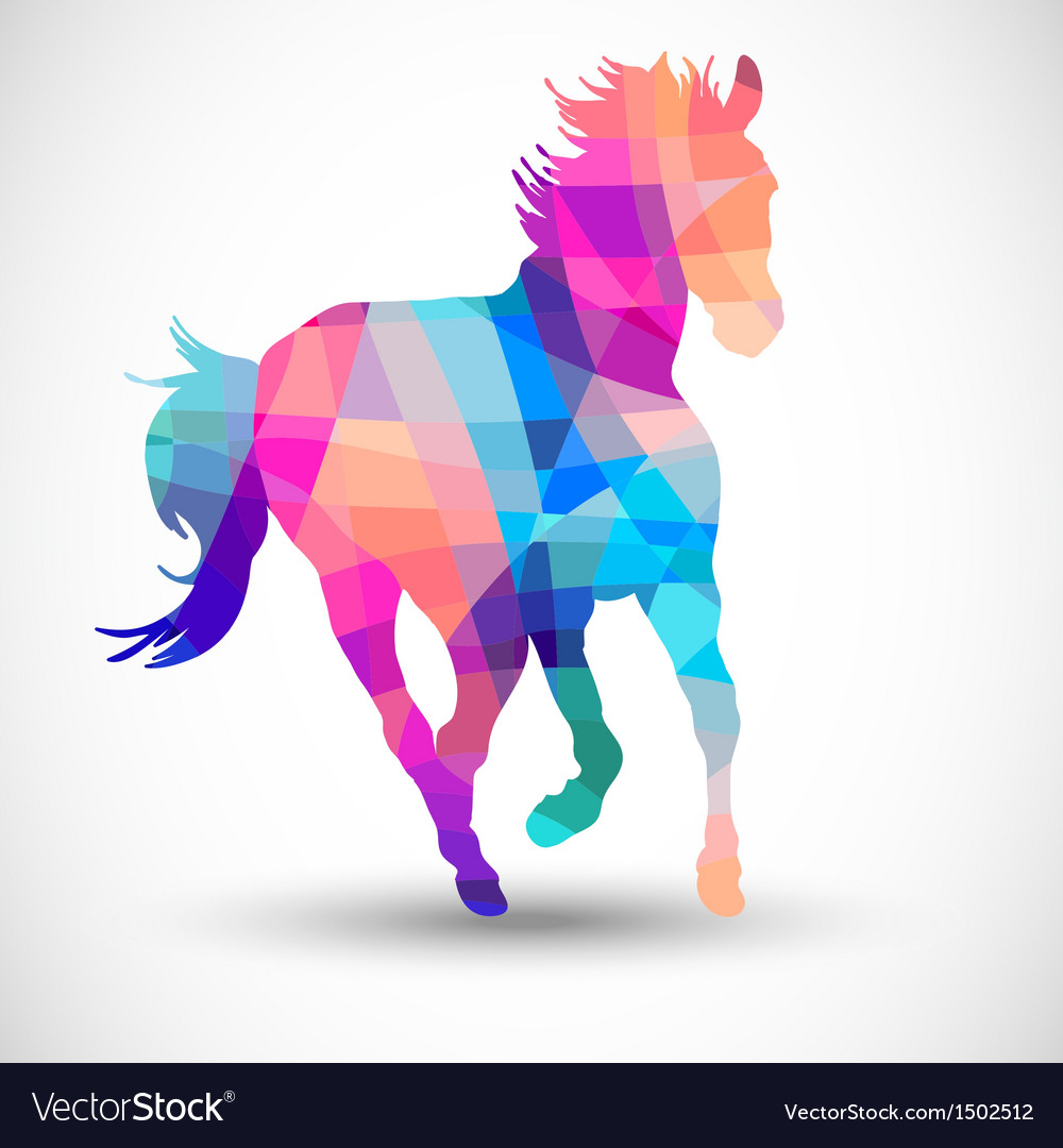 Abstract horse of geometric shapes vector | Price: 1 Credit (USD $1)