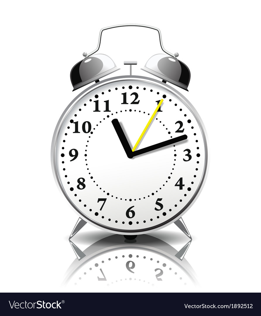 Alarm clock in a retro style vector | Price: 1 Credit (USD $1)