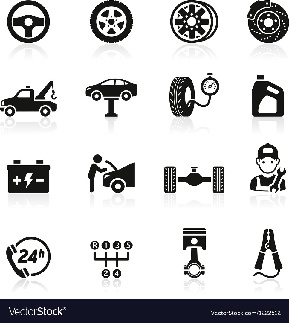 Car service maintenance icon vector | Price: 1 Credit (USD $1)
