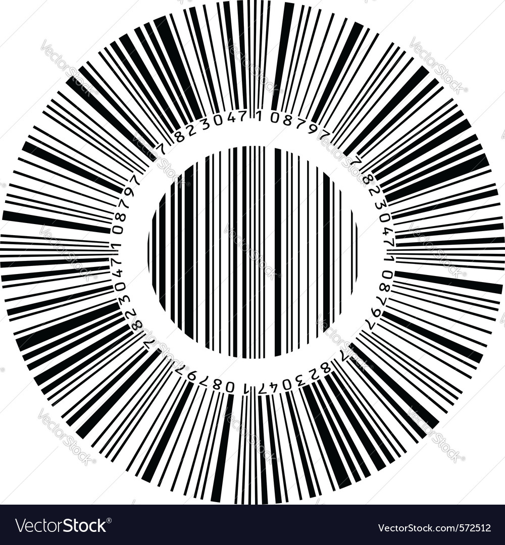 Circular bar code vector | Price: 1 Credit (USD $1)