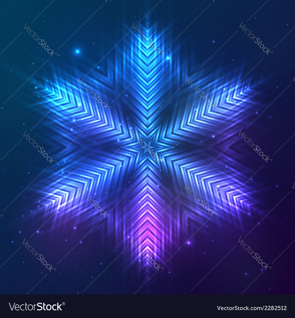 Cosmic shining abstract snowflake vector | Price: 1 Credit (USD $1)
