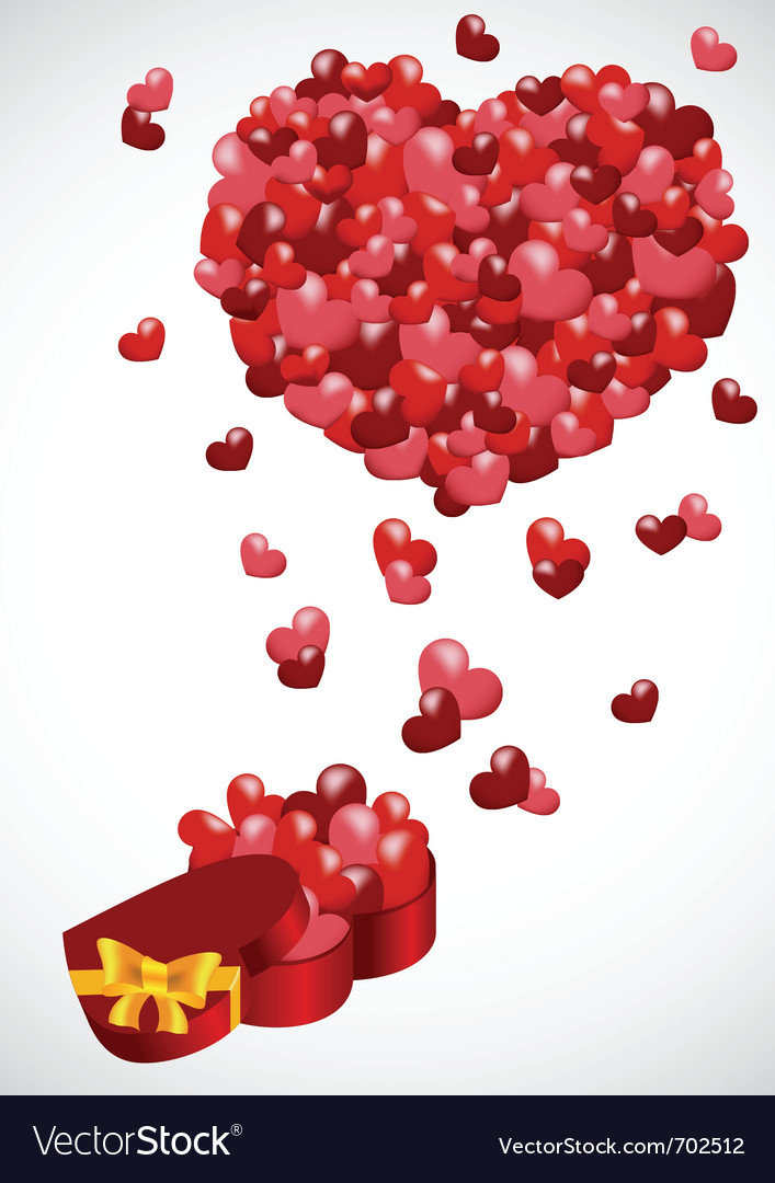 Gift from the heart vector | Price: 1 Credit (USD $1)