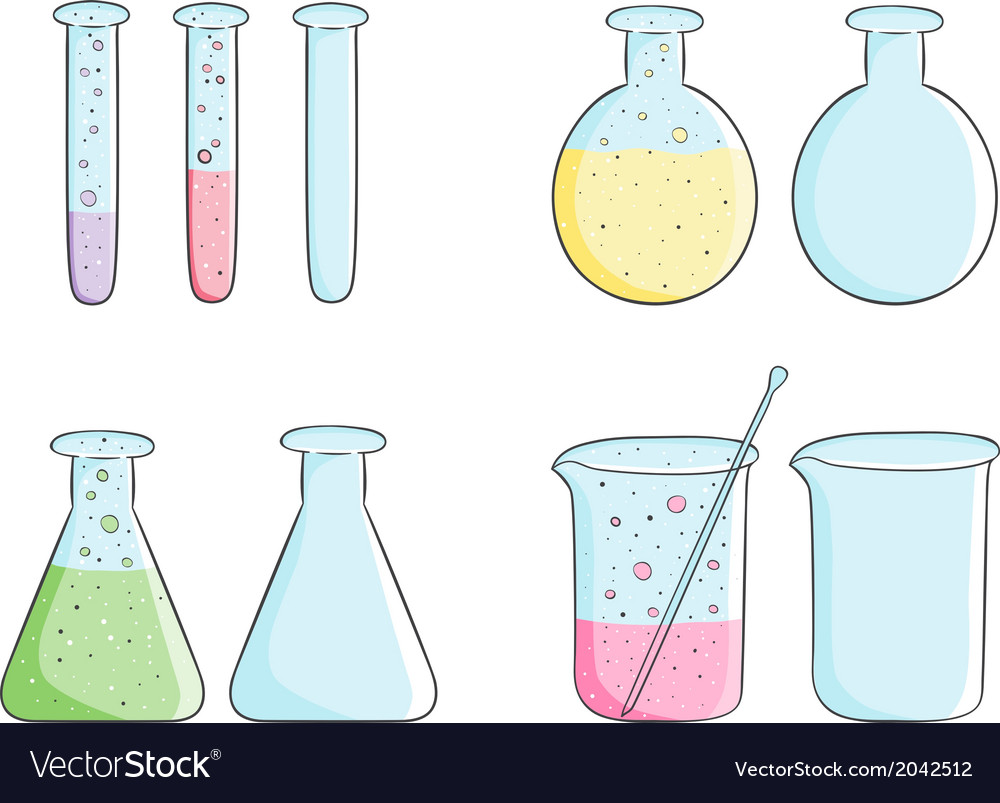 Laboratory test tubes vector | Price: 1 Credit (USD $1)