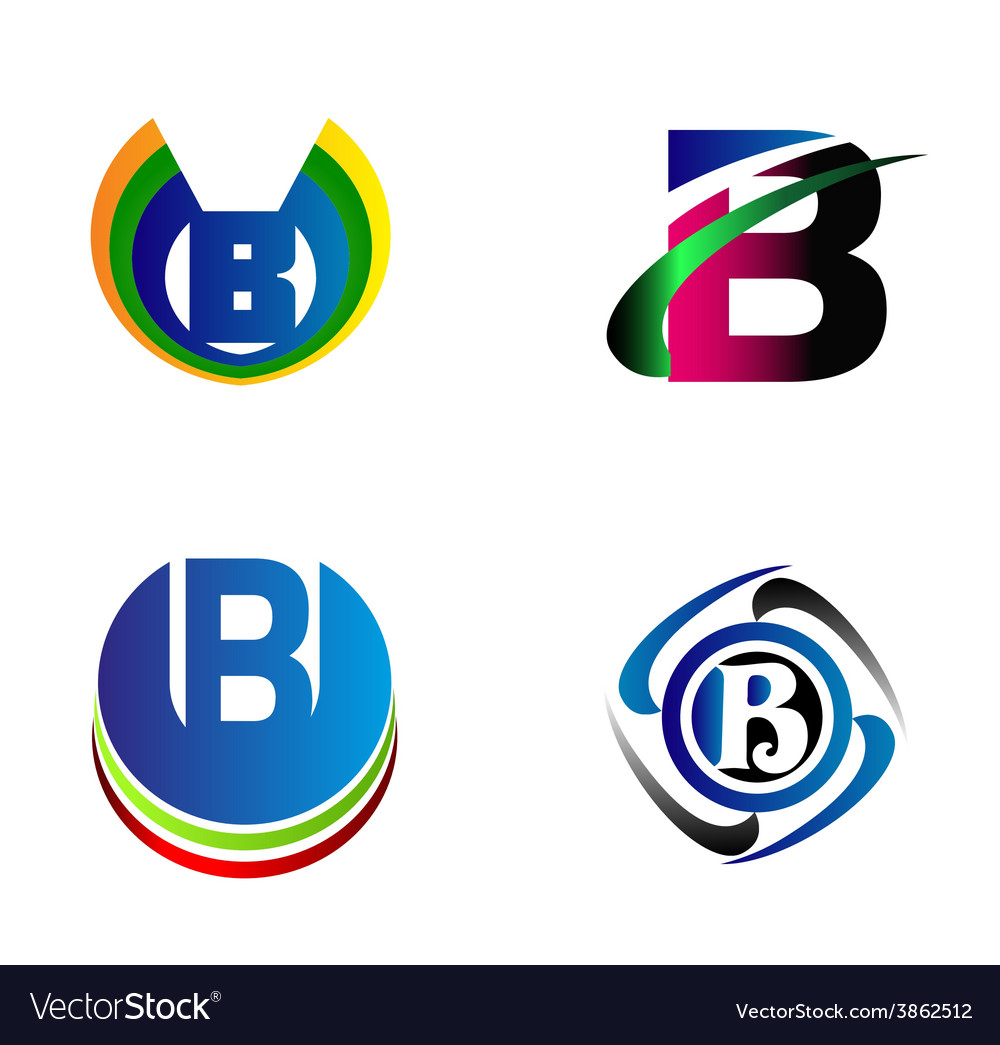 Letter b alphabet logo letter b icon set vector | Price: 1 Credit (USD $1)