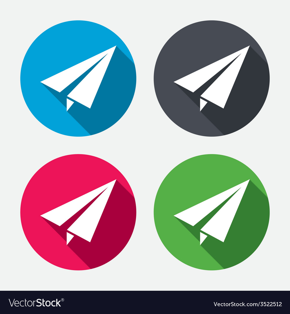 Paper plane sign airplane symbol travel icon vector | Price: 1 Credit (USD $1)