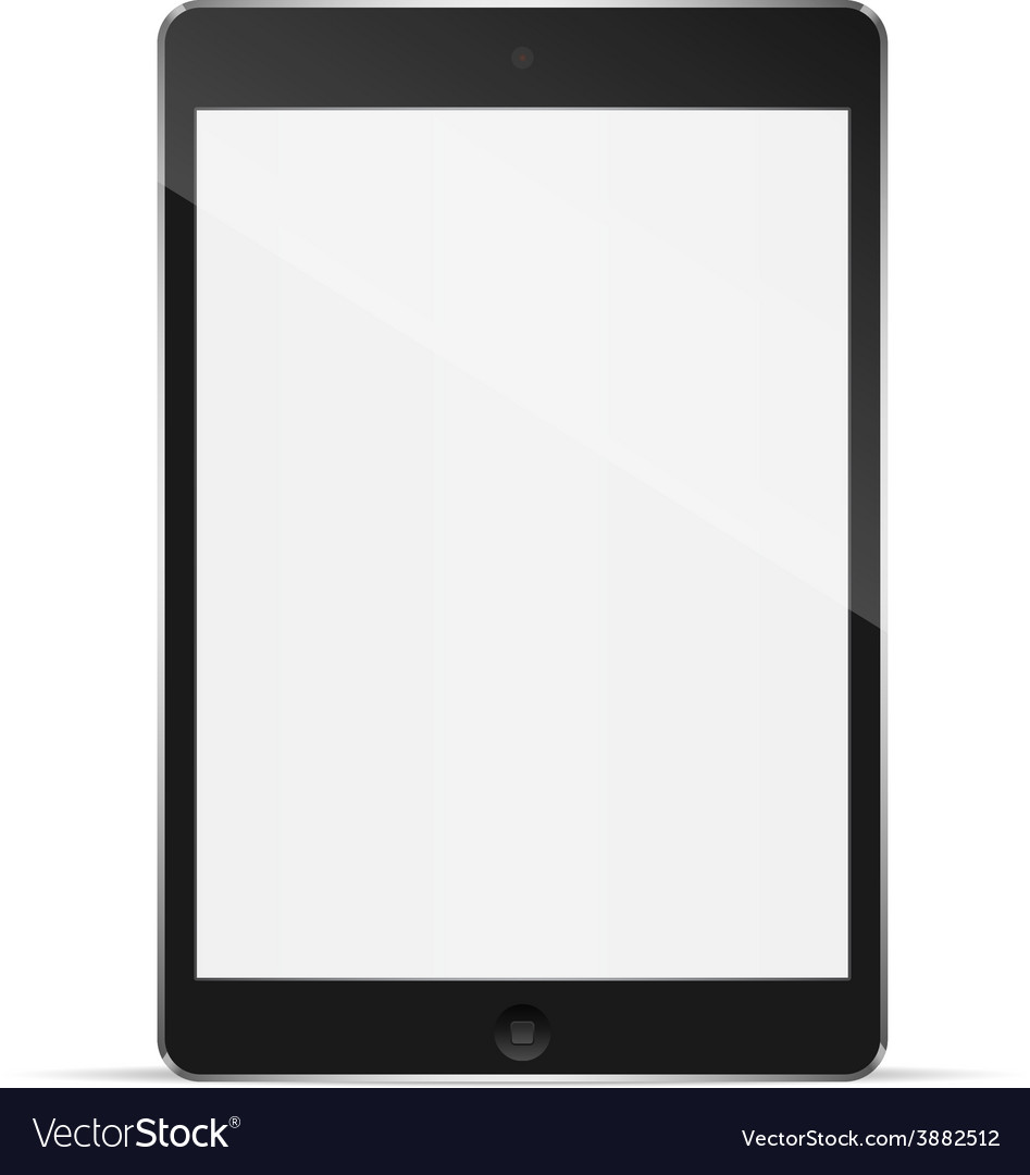 Realistic tablet pc computer with blank screen vector | Price: 1 Credit (USD $1)