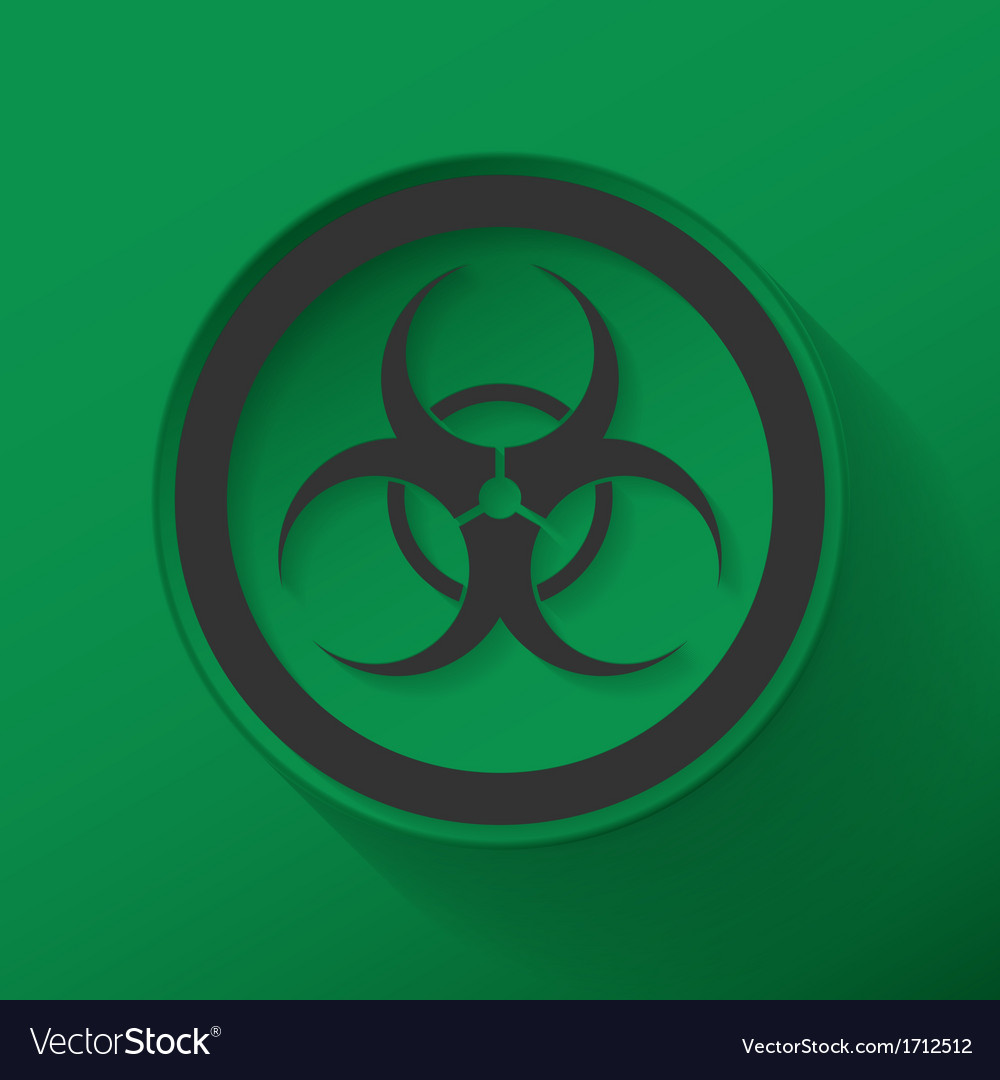 Sign biological hazard vector | Price: 1 Credit (USD $1)