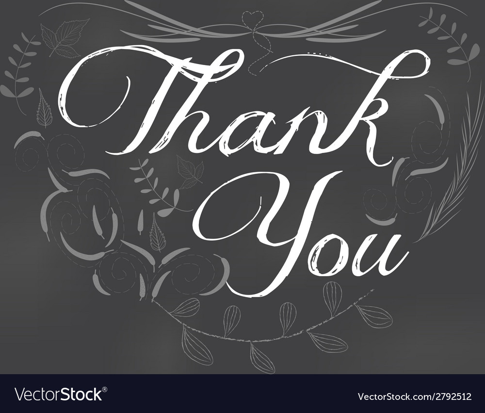 Thank you written on chalkboard vector | Price: 1 Credit (USD $1)